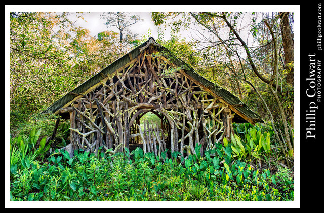 """Pine Knot House,"" 3-25-2016. Covington, LA.  Photo ©Phillip Colwart​ Photography 985.542.8216."